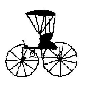 gsgenealogy logo amish buggy